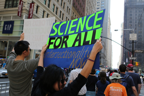 Gina Randazzo March For Science NYC 4/14/18