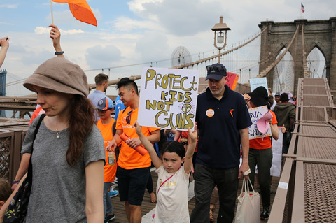 Gina Randazzo Youth Over Guns March Brooklyn Bridge 6/2/18