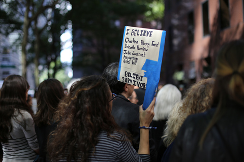 Gina Randazzo Cancel Kavanaugh: #BelieveSurvivors Solidarity Speakout Chuck Schumer's NYC Office 9/27/18