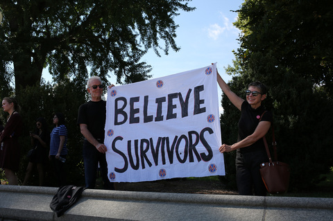 Gina Randazzo #CancelKavanaugh Believe Survivors Supreme Court Washington DC 10/4/18