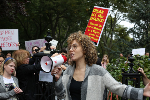 Gina Randazzo No Justice No Seat Washington Square Park NYC 10/6/18