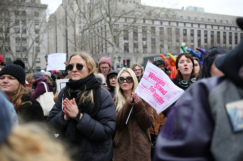 Gina Randazzo Women's March Unity Rally NYC 1/19/19
