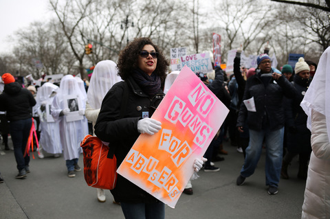 Gina Randazzo Gays Against Guns at Women's March NYC 2019