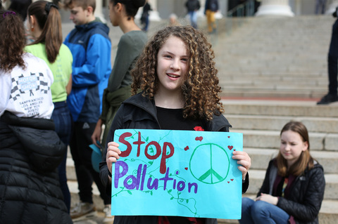 Gina Randazzo Youth Climate Strike NYC 3/15/19