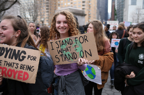 Youth Climate Strike Columbia University & Columbus Circle 3/15/19