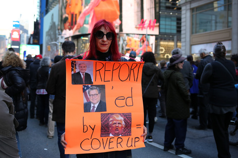 Gina Randazzo Release The Mueller Report March From Times Square  To Union Square 4/4/19