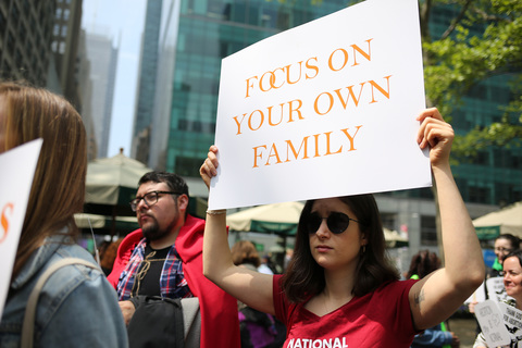 New Yorkers Say HELL NO to Hate Group Focus On The Family Bryant Park To Times Square 5/4/19