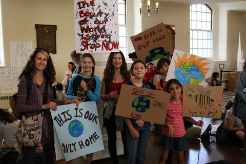 Climate Strike Sign Making St Paul's Chapel 9/20/19