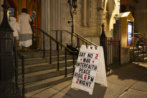 Say No To War Interfaith Peace Vigil Middle Collegiate Church 1/7/20