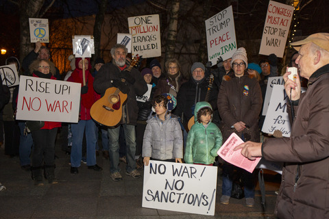 Stop The War Against Iran! Concerned Families of Westchester HOH, NY 1/9/20