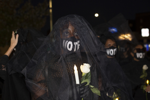 Mourners Walk to Commemorate The 200,000+ Jackson Heights, NY 10/6/20