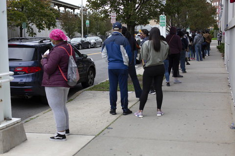 Second Day of Early Voting Riverfront Library, Yonkers 10/25/20
