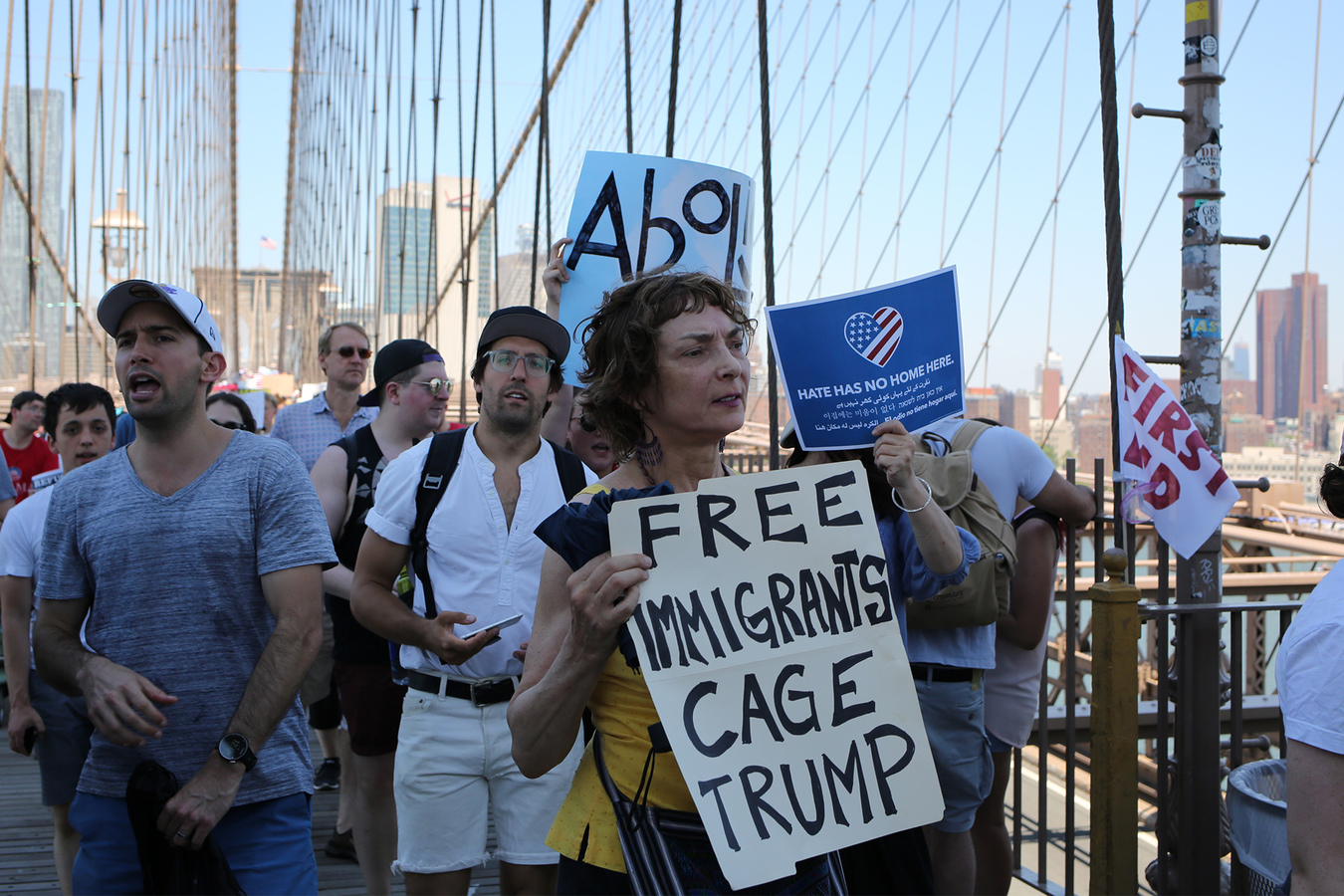 Families Belong Together Families Belong Together Brooklyn Bridge NYC 6/30/18