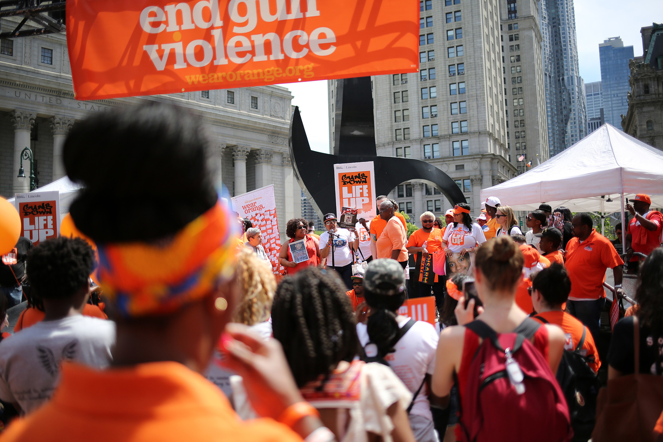 Solidarity Walk With Gun Violence Survivors Brooklyn Bridge 6/8/19 Survivors share the names of loved ones lost to gun violence