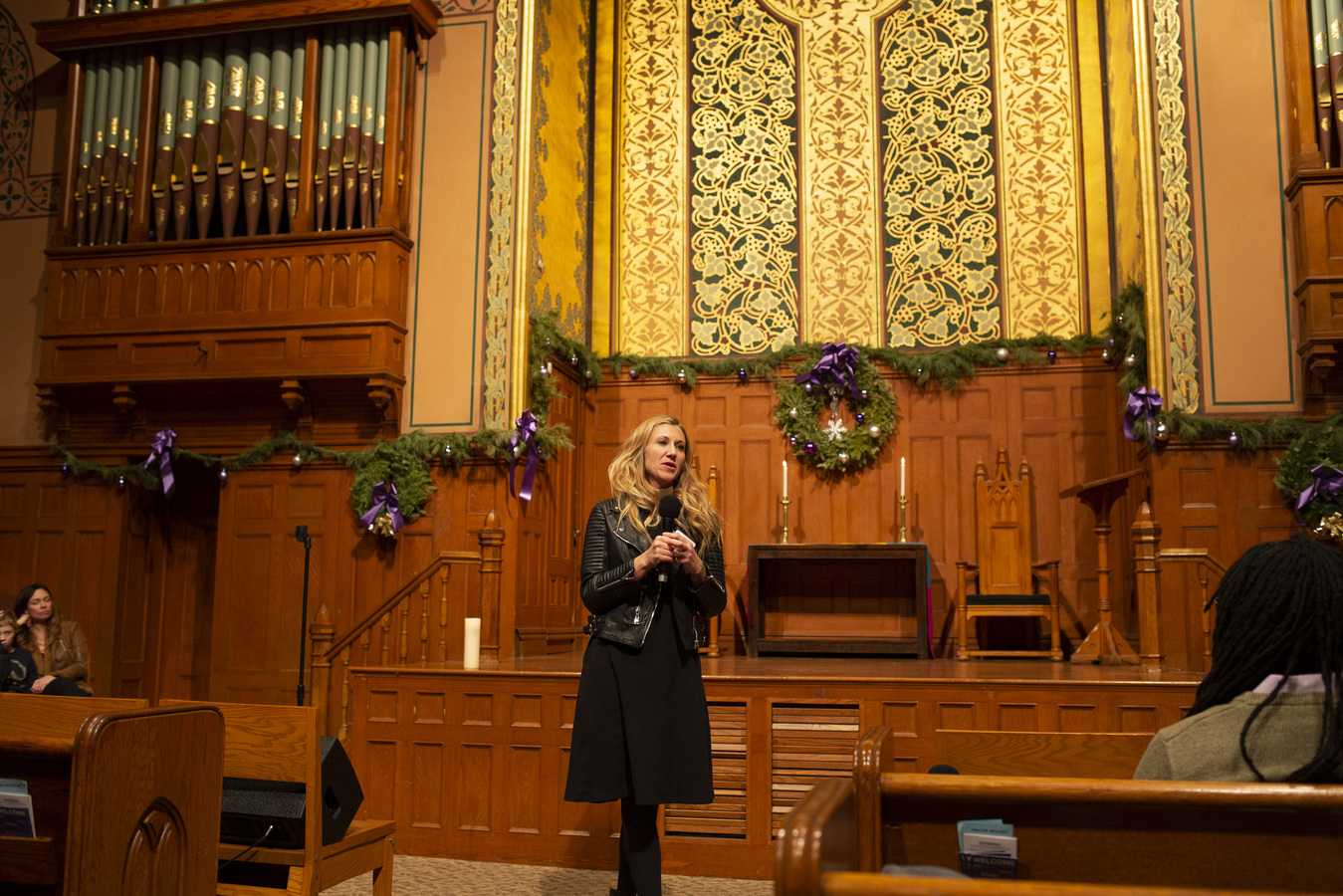 Say No To War Interfaith Peace Vigil Middle Collegiate Church 1/7/20 Rev. Amanda Hambrick Ashcraft, Executive Minister of Middle Collegiate Church