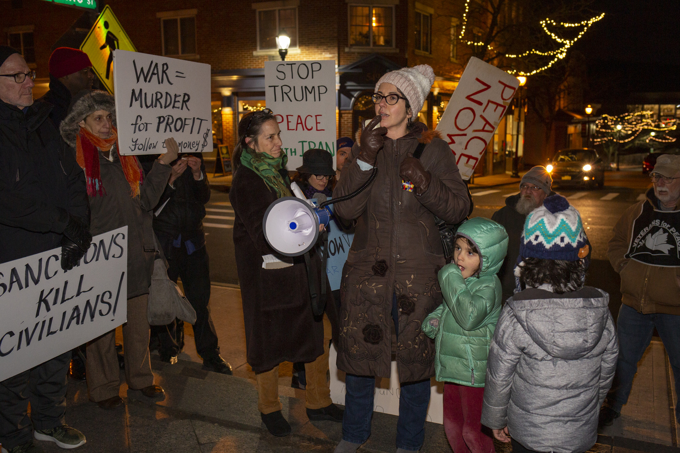 Stop The War Against Iran! Concerned Families of Westchester HOH, NY 1/9/20 Lisa Genn calls for activism