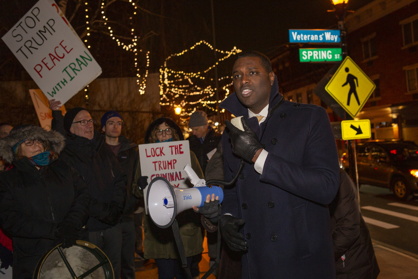 Stop The War Against Iran! Concerned Families of Westchester HOH, NY 1/9/20 Mondaire Jones, candidate for Congressional District 17