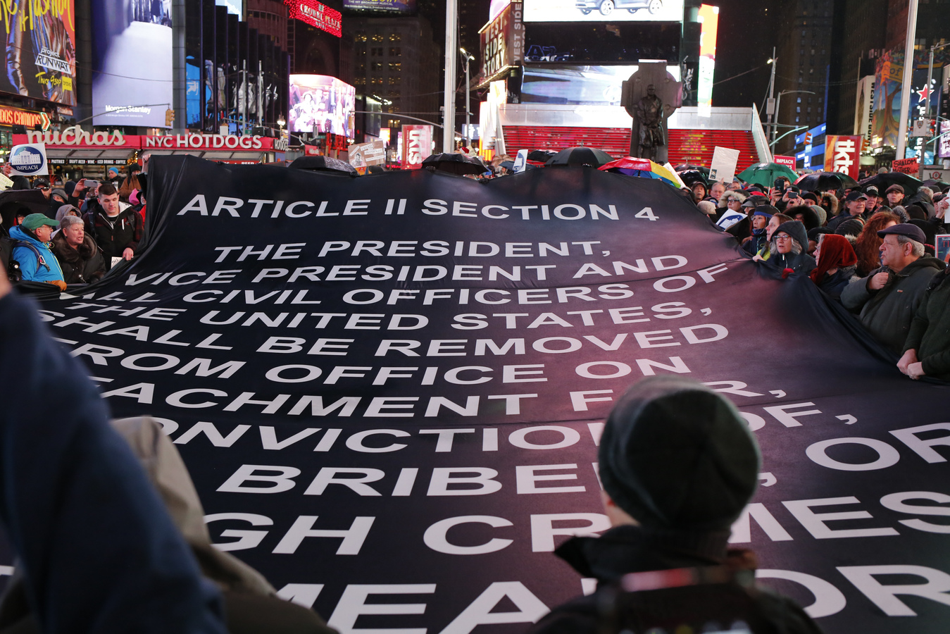 Current Project Impeachment Eve Times Square 12/17/19