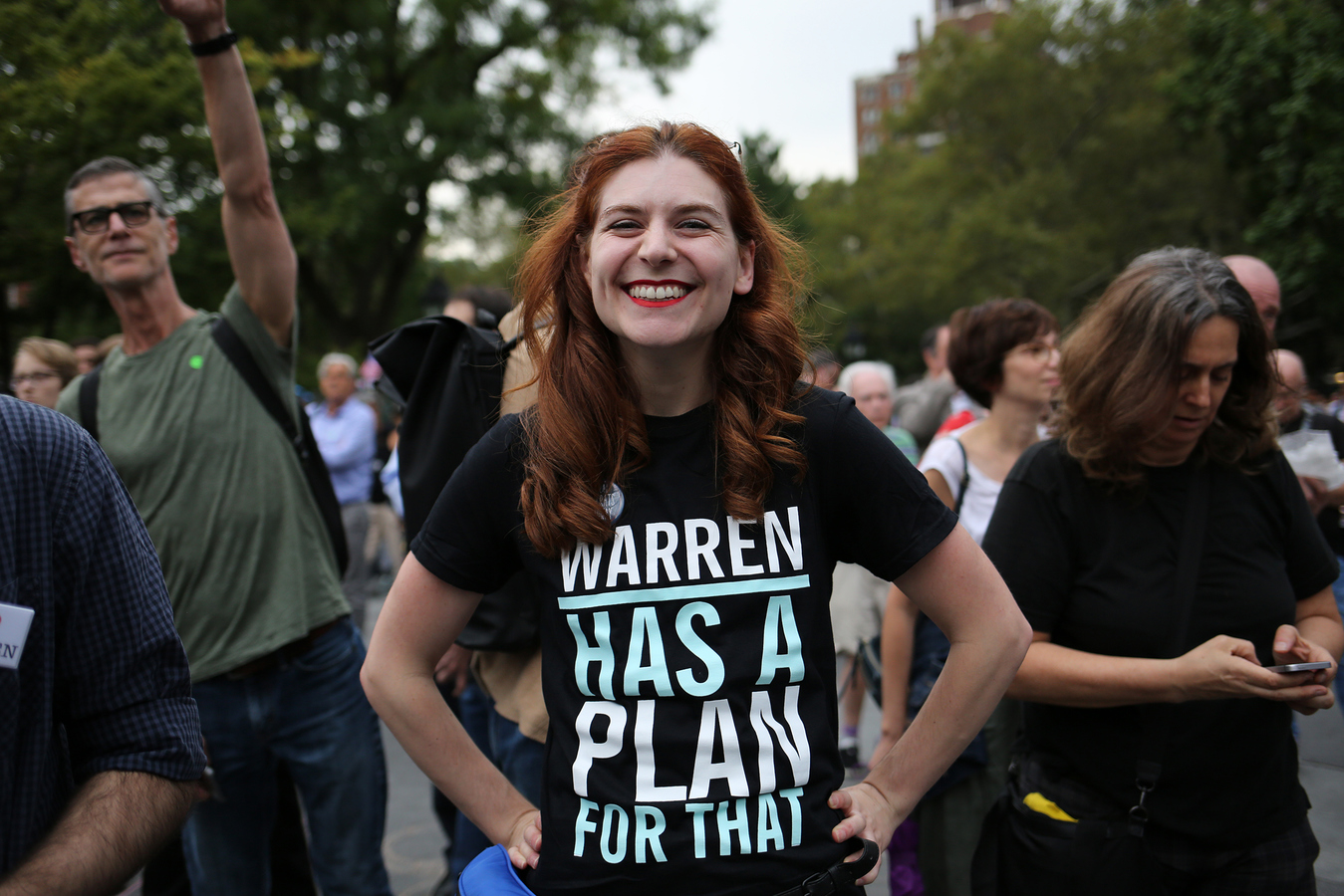 USA 2017- Elizabeth Warren Rally Washington Square Park 9/16/19