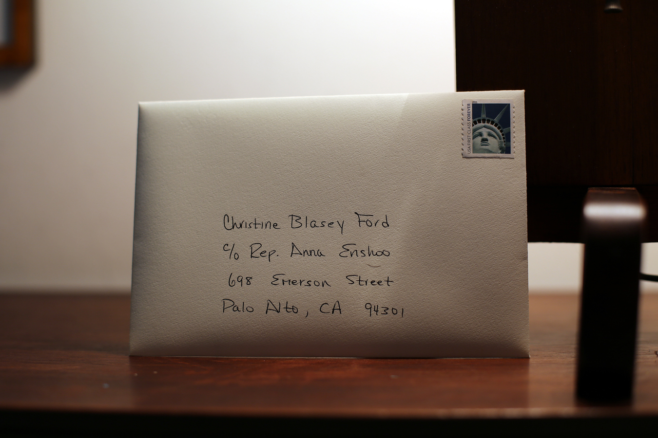 Mail Thank You Letter To Christine Blasey Ford