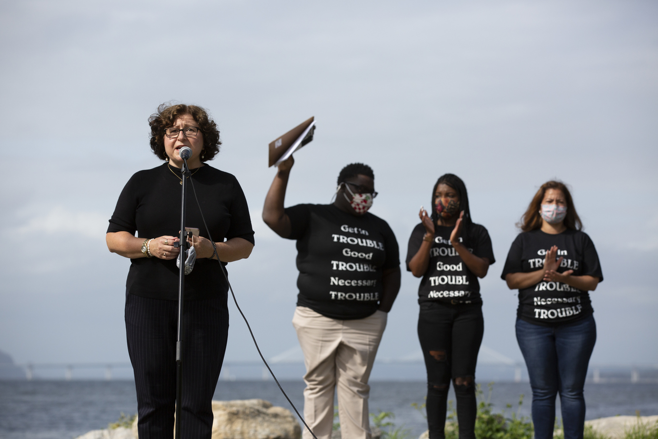 Black Lives Matter Rally Dobbs Ferry, NY 9/13/20 Westchester County Legislator MaryJane Shimsky