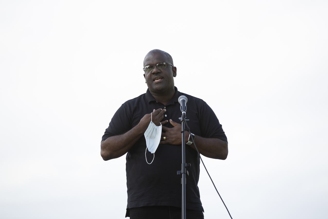Black Lives Matter Rally Dobbs Ferry, NY 9/13/20 Westchester Deputy County Executive Ken Jenkins