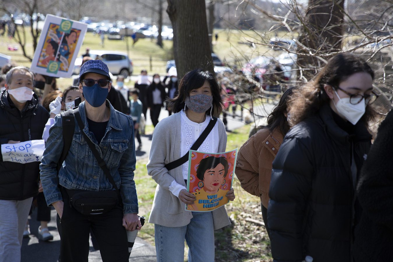 Rally & March For Asian Victims Of Violence Ardsley, NY 3/20/21
