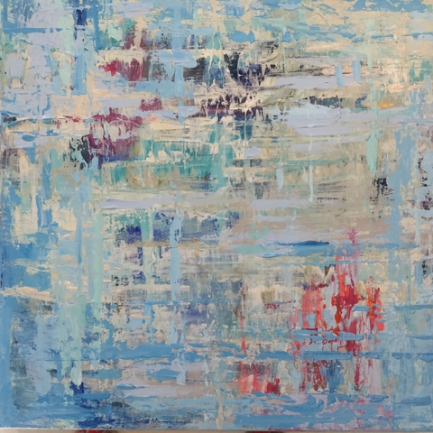 DANA GOODFELLOW ABSTRACT EXPRESSIONS ACRYLIC