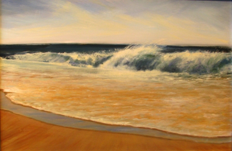 DANA GOODFELLOW WAVE ACTION OIL ON ALUMINUM