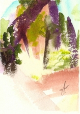 gordon fraser Van Voorst Park - Jersey City Watercolour