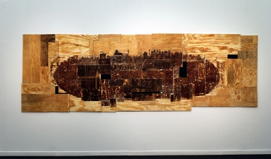Gordon Powell Recent Work abraded plywood, mdf, oil paint, wax, linseed oil