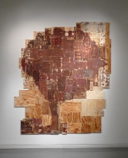 Gordon Powell Recent Work abraded plywood, glue, linseed oil