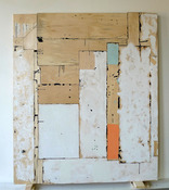 Gordon Powell New Image Gallery wood, oil paint and wax, dyed glue, pencil