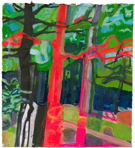 GRACE MELLOW Invented Landscapes Acrylic on paper