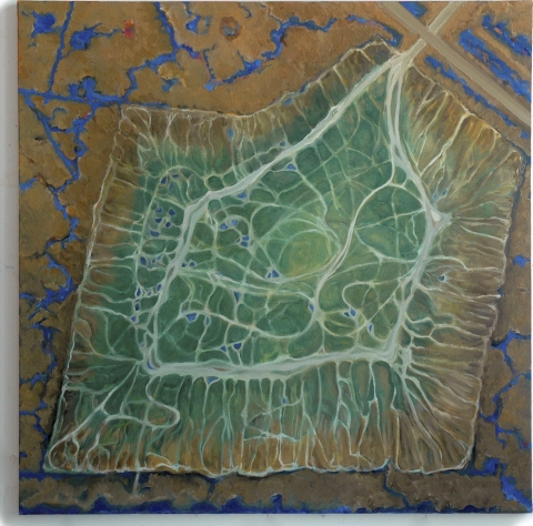 Gwyneth Leech Marsh Lines: 2009-2012 Oil on canvas