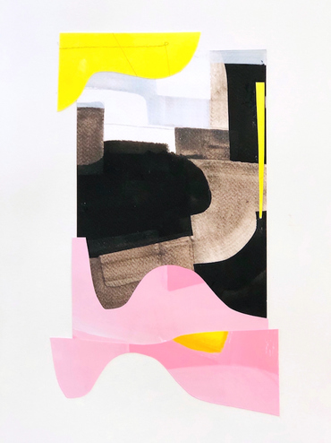 HARRIET  BELLOWS  collage acrylic on cut paper, 2019