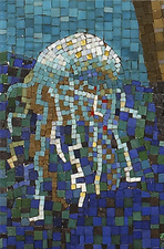 Harry Powers Early Work Glass Mosaic