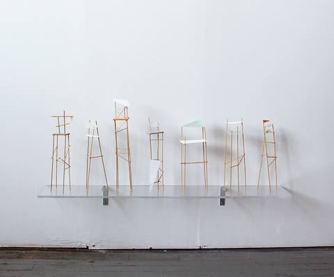 Heather Swenson New Work Silkscreen, wooden dowels