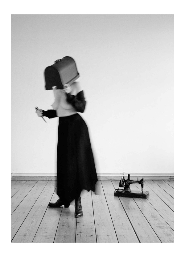 heather sheehan The Execution of a Frock Self Portrait B&W Medium Format Film Photography