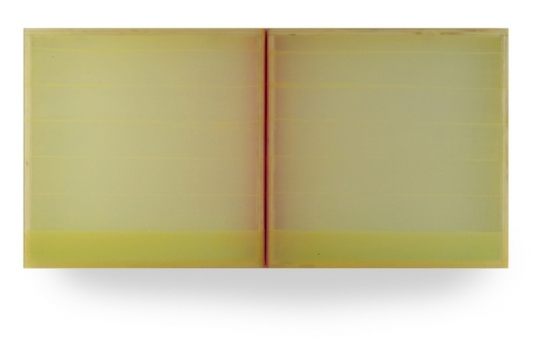 HEATHER  HUTCHISON WORKS 2010-2014 Plexiglass, birch, enamel, beeswax, pigment (Cantor Fitzgerald Collection)