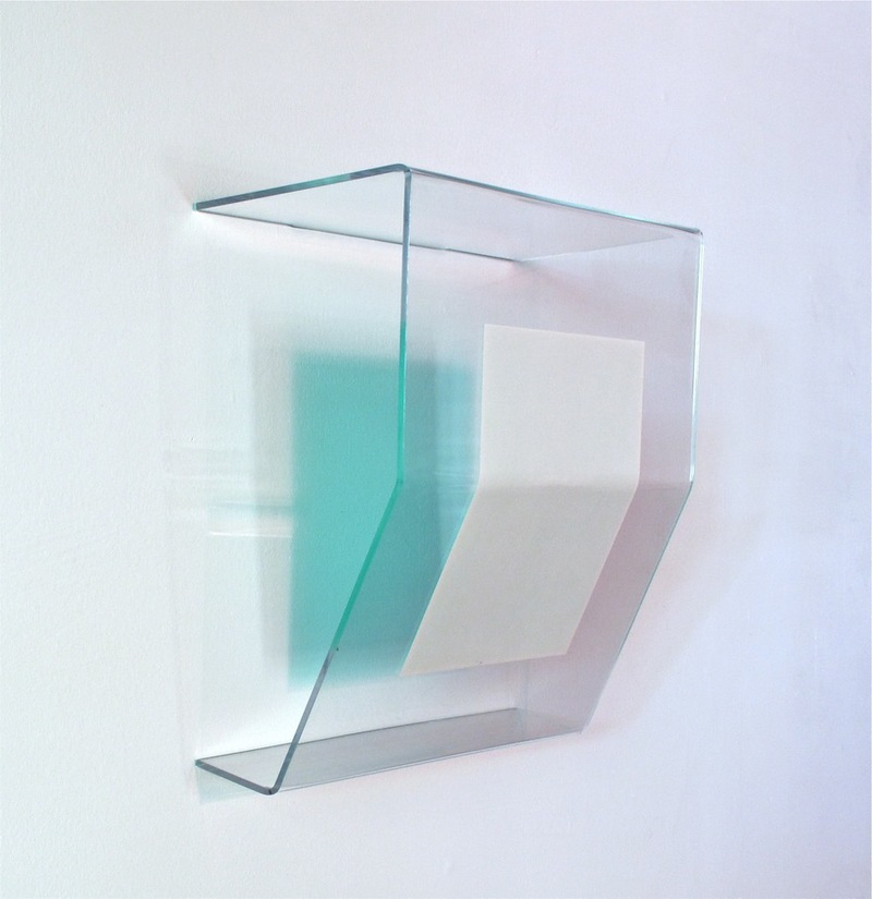 HEATHER  HUTCHISON WORKS 2010-2014 Plexiglas, enamel, Pantone paper