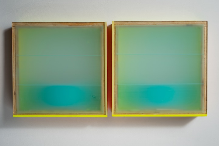 HEATHER  HUTCHISON WORKS 2010-2014 Birch, Plexiglas, tape, pigment, enamel, aluminum.