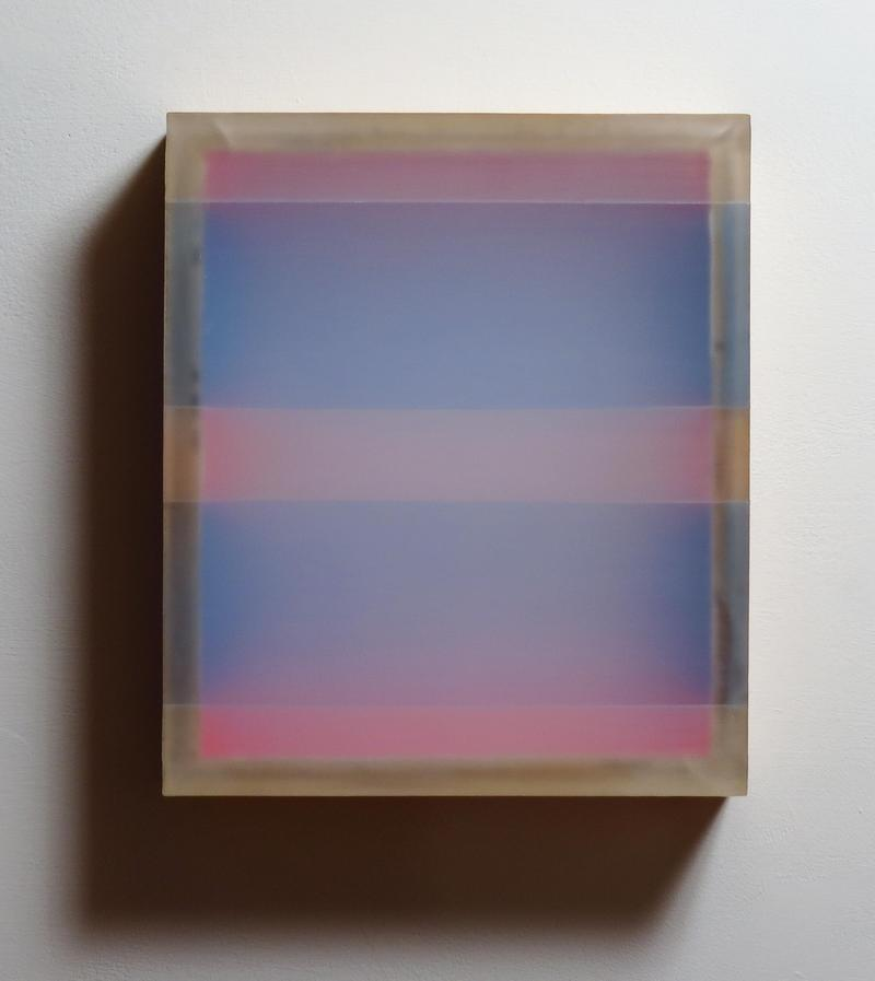 HEATHER  HUTCHISON WORKS 2015-2020 Plexiglas, birch, beeswax, pigment, tape
