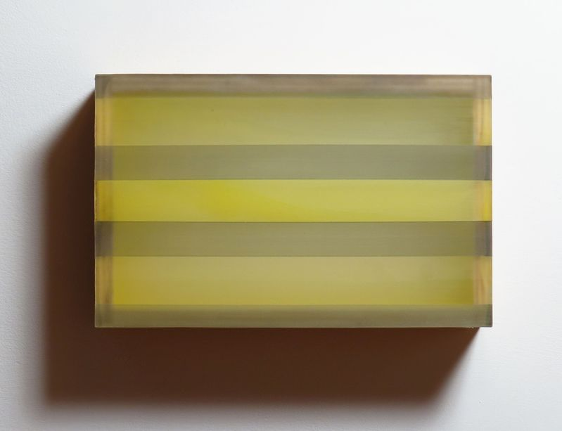 HEATHER  HUTCHISON WORKS 2015-2019 Plexiglas, birch, beeswax, pigment,graphite, tape