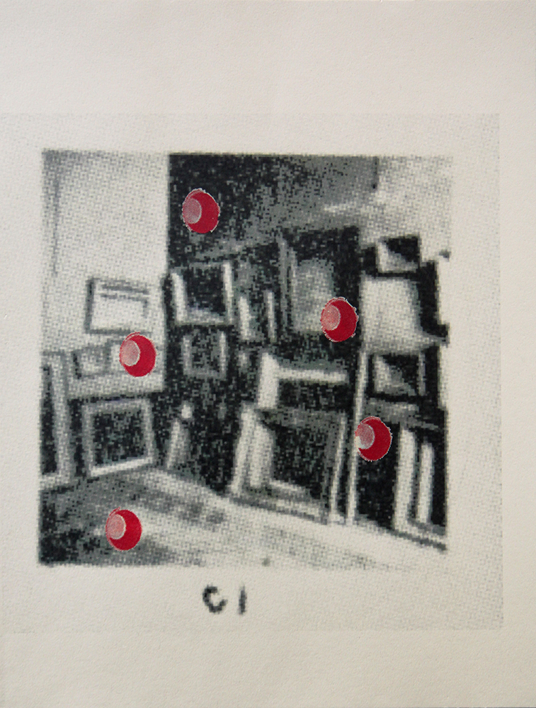Prints C1 Louvre Storage (Red Holes)