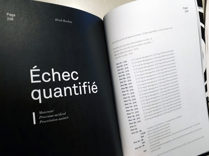 Quantified Failure [text] Quantified Failure: the script [French version]