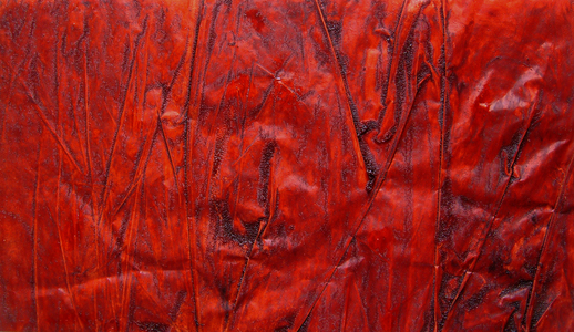 Red blankets Mixed media on velum