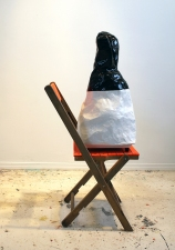H E I D I   P O L L A R D Wall Reliefs and Sculpture papier maché, wooden chair, spray paint