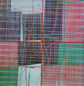 Helen Ireland Grid Landscape series Works on paper 2018                 Gouache on paper