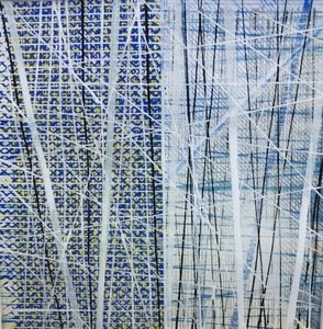 Helen Ireland Grid Landscape series Works on paper 2018                 200 x 200mm